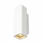 Plaster Rectangle Wall Light